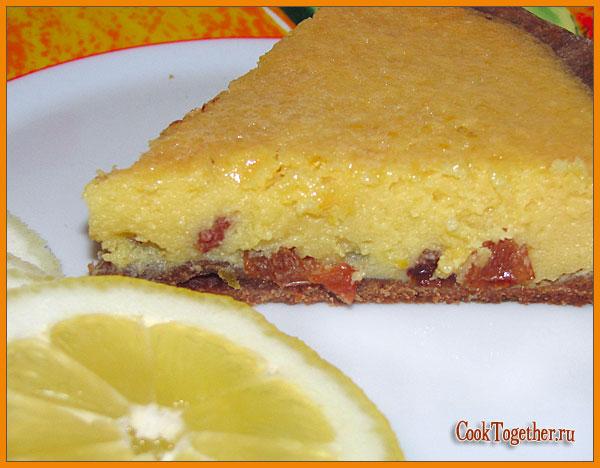 Приготовление лимонного пирога с