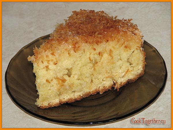 Кусочек кокосового пирога