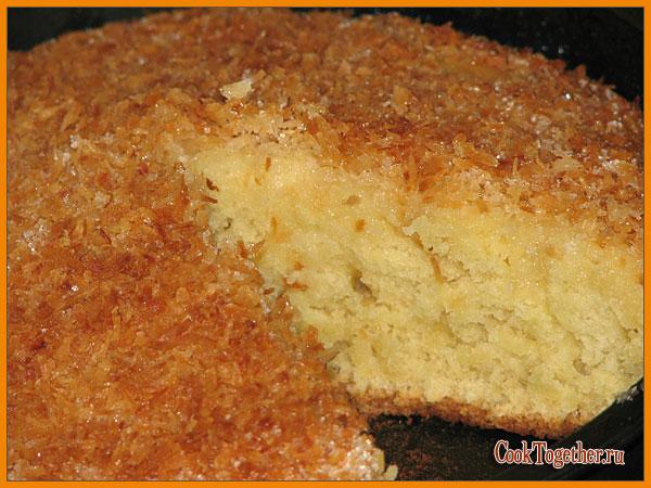 Кокосовый пирог готовим вместе
