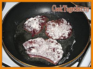 Отбивные из печени – кулинарный рецепт